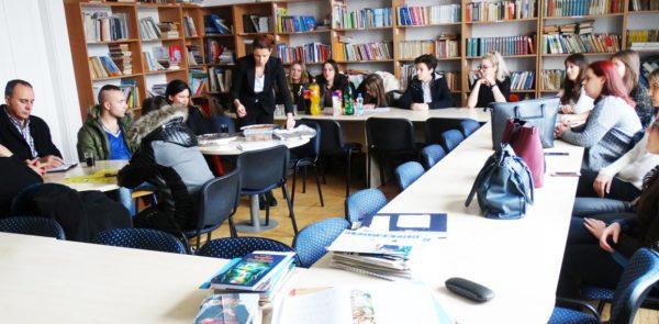 Посета студената и професора са Едукацијско-рехабилитацијског факултета у Тузли